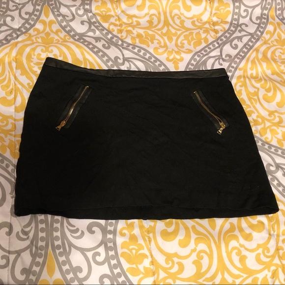 d665f0945 Express Skirts   Mini Skirt W Zippers Faux Leather Waist   Poshmark